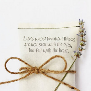 ... beautiful things are not seen with the eyes, but felt with the heart
