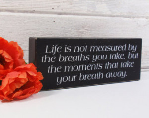 Quote Block Sign- Hand Painted Wood en Block- Country Decor- Wooden ...
