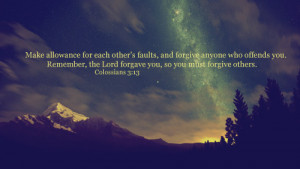 bible quotes about friendship and forgiveness