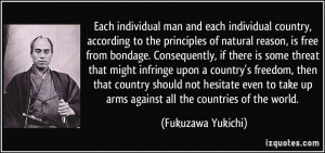 ... infringe upon a country's freedom, then that country should not