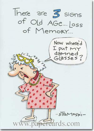 Signs of Old Age (1 card/1 envelope) Marian Heath Funny Birthday ...