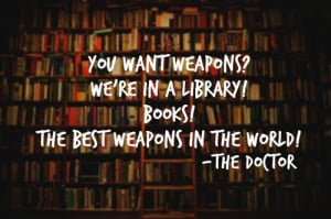 books, doctor who, weapons