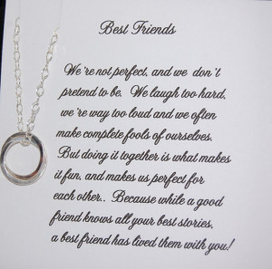 BEST FRIEND Necklace, Bridesmaid Gift, Friendship, Sister, Maid of ...