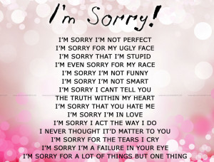 Im Sorry I Love You Quotes Im sorry
