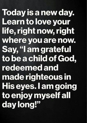 New day... new blessings