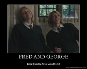 harry potter #Fred Weasely #George Weasely #lol #funny