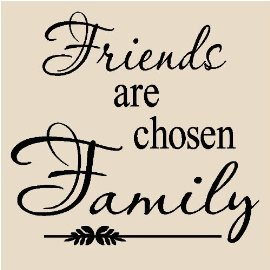 T16- Friends are chosen family 12x12 vinyl wall art decals sayings ...