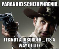 Paranoid Schizophrenia More