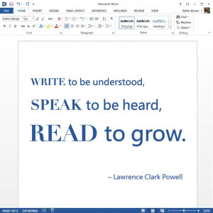 Photo quote from Facebook - Brilliant words from Lawrence Clark Powell ...