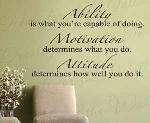 Attitude Makes the Difference Removable Wall Decal Quote