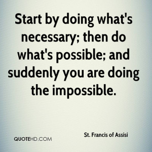 St. Francis of Assisi Quotes