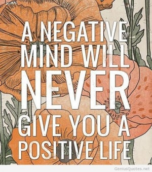 Negative mind quote