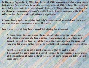 Cesar Chavez Monument Dedication