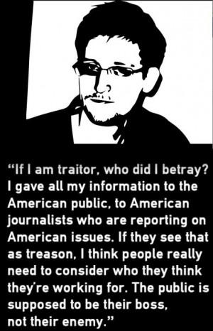 Edward Snowden: a real American Hero.