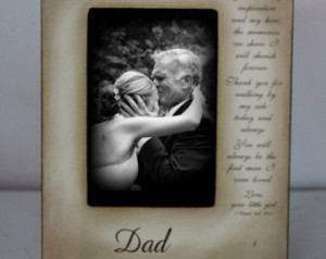 Father Daughter Wedding Frame Bride Just For Dad Father of the Bride ...