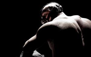 Tom Hardy as Bane in DARK KNIGHT RISES