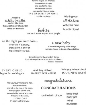 Inside & Out: Baby Stamp Set
