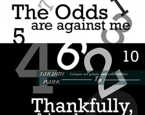 ... Inspirational Quote, Black and White, Math Decor, Number Art, Gift For