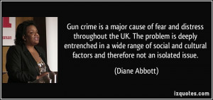 Gun crime is a major cause of fear and distress throughout the UK. The ...