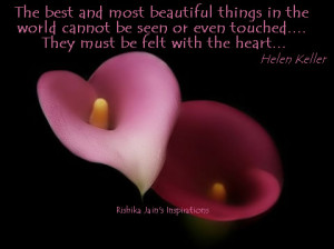 Heart Quotes , Helen Keller Quotes and Pictures, Inspirational Quotes ...