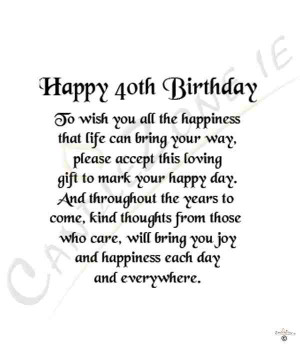 40th Birthday Wishes 05