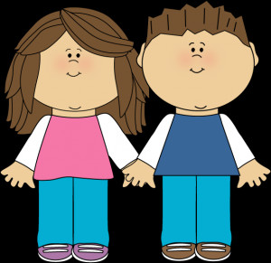 Brother and Sister - a brother and sister with brown hair standing ...