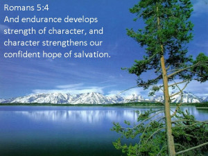 ... Character Straightness Our Confident Hope Of Salvation - Bible Quote