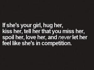 Never make her feel second best