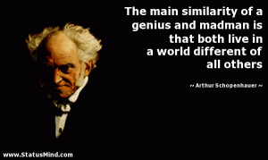 ... different of all others - Arthur Schopenhauer Quotes - StatusMind.com