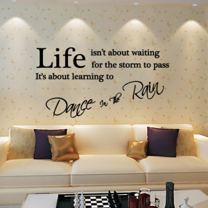 Pcs 350*750mm Fashion New Quote Dance In The Rain Letters Wall ...