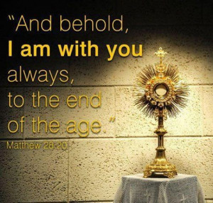 And so, visit Him in the Blessed Sacrament. Empty yourself before your ...