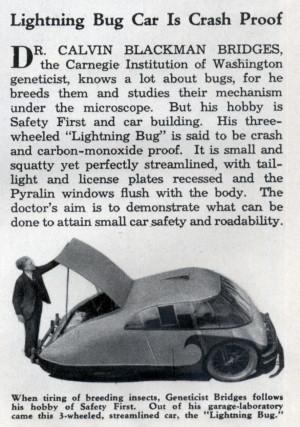 Lightning Bug Car Is Crash Proof (Aug, 1936)