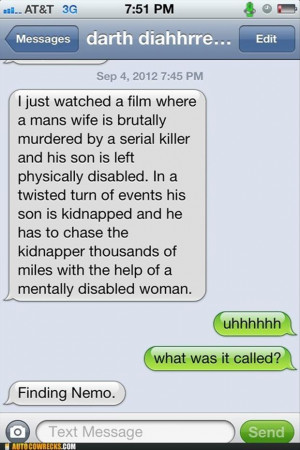 finding nemo, funny texts