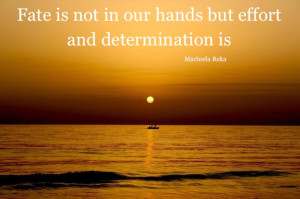 "... But Effort And Determination Is "" - Marinela Reka ~ Success Quote"