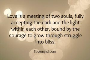 Love Is Meeting Of Two Souls Fully Accepting The Dark- Fate Quote