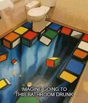 funny bathroom floor