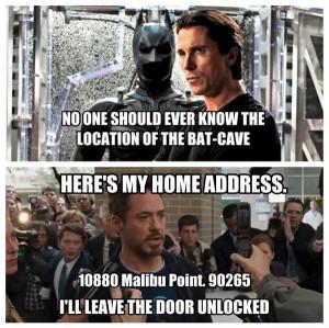 Batman vs Iron Man on privacy