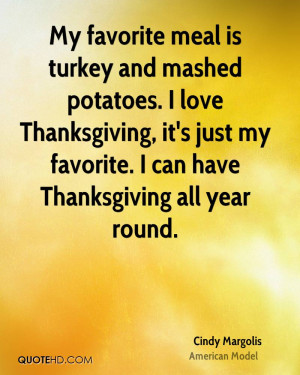 Cindy Margolis Thanksgiving Quotes
