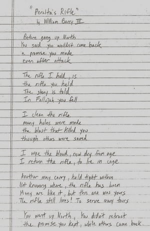 Fallen Marine Poem The story behind the poem is