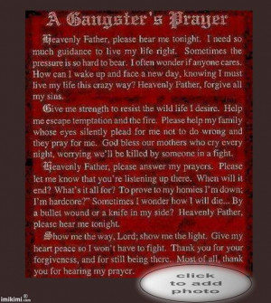 Gangsta Prayer Poems | Gangster Prayer Poems