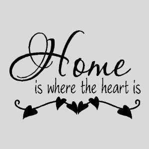 Home is where the heart is...Family Wall Quotes Sayings Words ...
