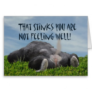 Humorous Funny Sick Monkey Not Feeling Well Cards