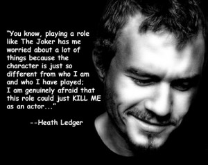 Heath Ledger - Prophet of Doom.