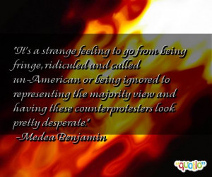 ... from being fringe ridiculed and called un american or being ignored to