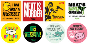 Vegetarian Sticker Sheet