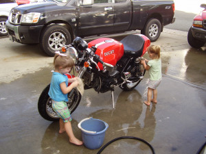 washing my bike from now on attached thumbnails