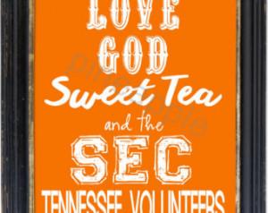 ... University of Tennessee Volunteers Football Print Art 8x10 Typography