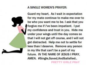 Single Woman's Prayer