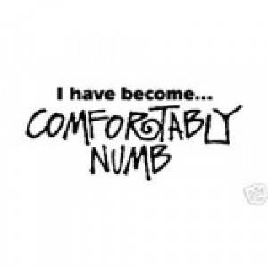 have become...COMFORTABLY NUMB vinyl sticker