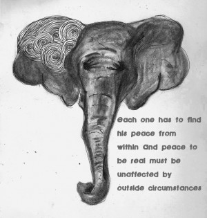 Ghandi Elephant. Quote by Ghandi.